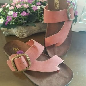 NWT WOMEN'S LEATHER  SANDALS SIZE 5.5